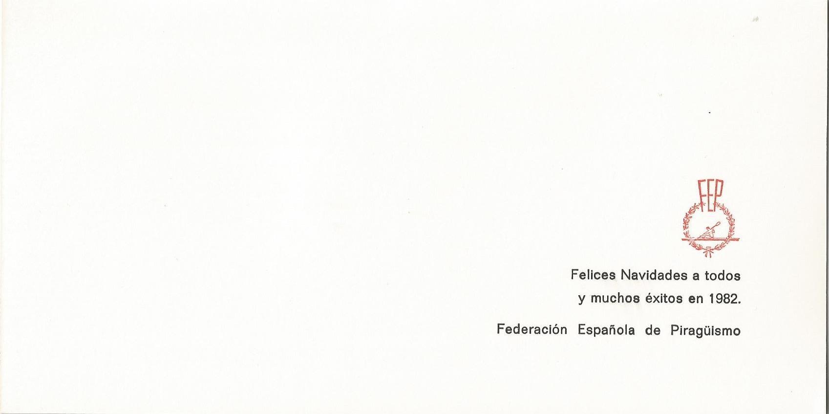 CHRISTMAS RFEP 1981 REVERSO