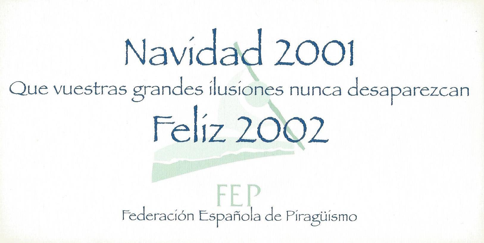 CHRISTMAS RFEP 2001 REVERSO