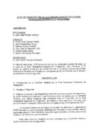 ACTA DE CONSTITUCIÓN DE LA COMISIÓN GESTORA DE 3 DE SEPTIEMBRE DE 2012