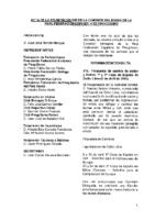 ACTA DE CONSULTA ONLINE A LA COMISIÓN DELEGADA. 06:04:2016