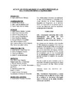 ACTA DE CONSULTAS ONLINE A LA JUNTA DIRECTIVA DURANTE EL MES DE MAYO 2015