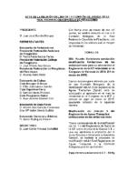 ACTA DE LA CONSULTA A LA COMISIÓN DELEGADA DE 11 DE MARZO DE 2015