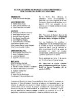 ACTA DE LAS CONSULTAS ONLINE A JUNTA DIRECTIVA DEL MES DE AGOSTO 2015