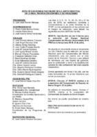 ACTA DE LAS CONSULTAS ONLINE A JUNTA DIRECTIVA DEL MES DE JULIO 2018