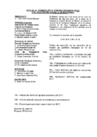 ACTAS DE LA REUNIÓN DE COMISIÓN DELEGADA DEL PASADO 5 DE NOVIEMBRE DE 2011