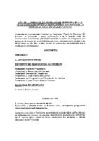 Acta Reunión de Presidentes de FF.AA de 10 de julio 2015
