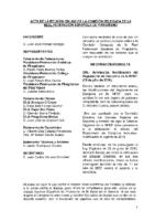 Acta de consulta online a la Comisión Delegada 26 de julio de 2016