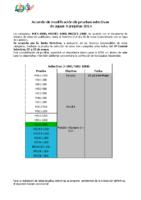 Acuerdo de Modificacion Pruebas selectivas AT 2014