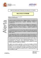 Alerta de la AEPSAD en relación a la retirada del producto HALO-PLEX XTREME