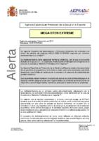 Alerta de la AEPSAD en relación a la retirada del producto MEGA-STEN EXTREME
