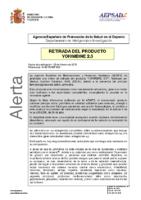 Alerta de la AEPSAD en relación a la retirada del producto Yohimbine 2.5