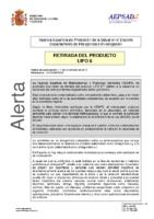 Alerta de la AEPSAD en relación a retirada del producto Lipo 6 (YOHIMBINA)