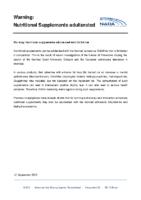 Alerta de la NADA en relación a la sustancia OXILOFRINA, presente en suplementos nutricionales