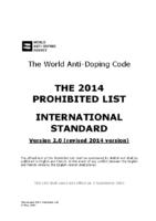 Alerta de la WADA sobre la revisión de la lista de prohibiciones