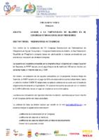 CIRCULAR Nº 14:2018 DE 9 DE JULIO BECAS PARA MUJERES CONGRESO INT. DE ENTRENADORES DE CATOIRA