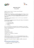 CIRCULAR Nº 19:2018 DE 29 DE AGOSTO. CONVOCATORIA MESA NACIONAL DE CLASIFICACIÓN DE PARACANOE