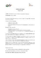 CIRCULAR Nº 20:2018 DE 30 DE AGOSTO. CURSO DE CLASIFICADORES AUTONÓMICOS DE PARACANOE