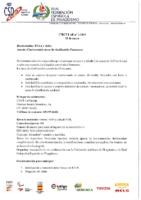 Circular nº 1:2019 Convocatoria mesa clasificación Paracanoe