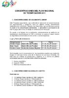 Concentraciones de Seguimiento del Plan Nacional de Tecnificación 2011