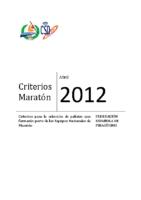 Criterios 2012 Maraton VFINAL JD