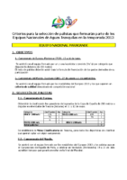 Criterios Paracanoe 2013