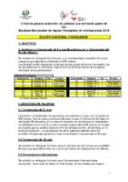 Criterios de seleccion Paracanoe 2014