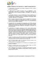 Normas generales de asistencia a competiciones internacionales 2014