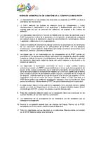 Normativa de asistencia a competiciones internacionales
