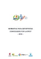 Normativa para deportistas convocados por RFEP 2018