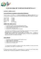 Plan de Acceso al Plan Nacional de Tecnificación Deportiva 2011