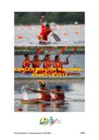 Programa de la Concentración del PNTD Cadete 2011