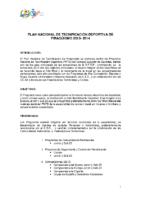 Proyecto del Plan Nacional de Tecnificación Deportiva de Piragüismo 2013-2014
