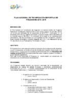Proyecto del Plan Nacional de Tecnificación Deportiva de Piragüismo 2014-2015