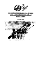 RESULTADOS MUNDIAL SENIOR 2003