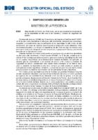 Real Decreto 637:2010, de 14 de mayo, por el que se prevé la incorporación de los deportistas de alto nivel a las Fuerzas y Cuerpos de Seguridad del Estado