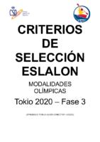 CRITERIOS SELECCIÓN Eslalon – JJOO – Fase3