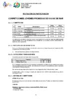 COMPETICIONES PROMESAS KAYAK DE MAR 2020