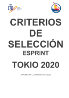 CRITERIOS SELECCION TOKIO20 SPRINT