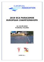 Bulletin European Championships Poznan 2019