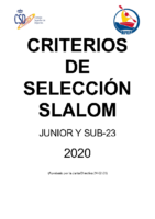 CC. SS. SLALOM JUNIOR Y SUB23 2020
