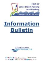 Information Bulletin 2019 ICF CSL Ranking Markkleeberg