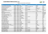 Calendario Internacional 2020