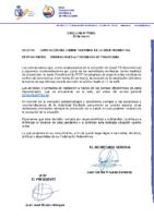 CIRCULAR Nº 7 2020 AMPLIACIÓN DEL CIERRE TEMPORAL SEDE FEDERATIVA