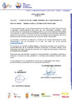 CIRCULAR Nº 8 2020 2ª AMPLIACIÓN DEL CIERRE TEMPORAL SEDE FEDERATIVA
