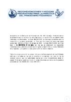 ACTUALIZACIÓN FASES 1 Y 2 DE RECOMENDACIONES Y MEDIDAS PREVENTIVAS PARA LA PRÁCTICA DEL PIRAGÜISMO FEDERADO- 25-05-2020