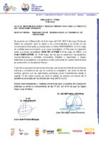 CIRCULAR 12 Recomendaciones y Medidas preventivas para el piragüismo federado