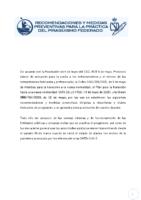 RECOMENDACIONES Y MEDIDAS PREVENTIVAS PARA LA PRÁCTICA DEL PIRAGÜISMO FEDERADO
