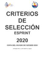 CRITERIOS DE SELECCION SPRINT- 2020-APROBADO POR LA JUNTA DIRECTIVA-180820