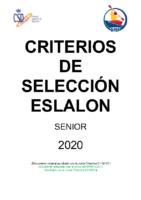 CRITERIOS DE SELECCION ESLALON – 2020