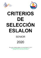 CRITERIOS DE SELECCION ESLALON – 2020 (ADAPTADO COVID)